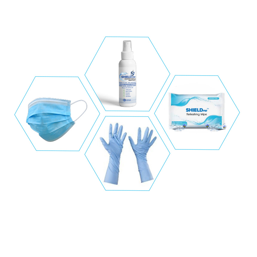 SHIELDme ppe kit disinfectant